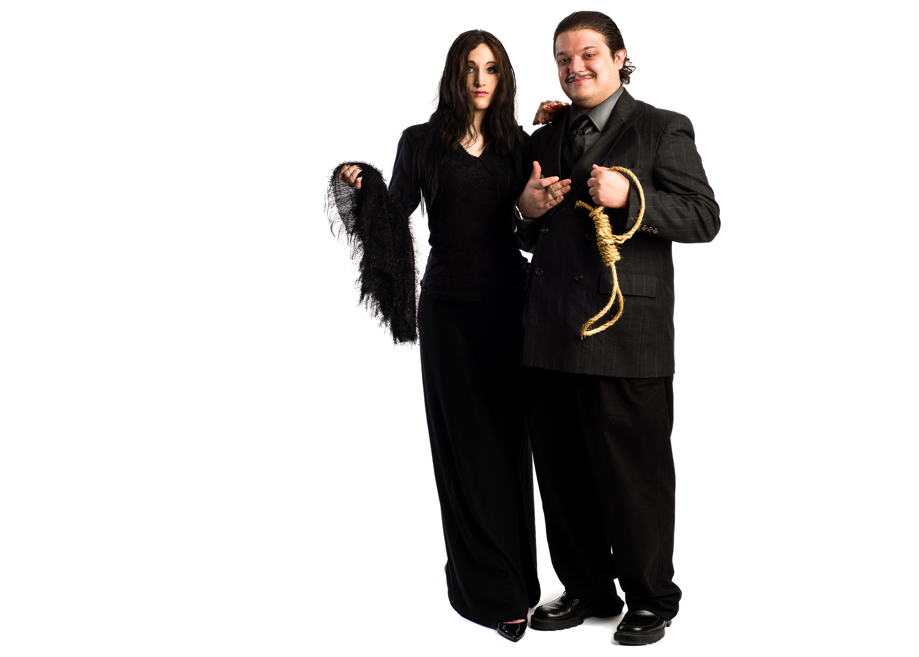 Morticia and Gomez Addams Family Cosplay