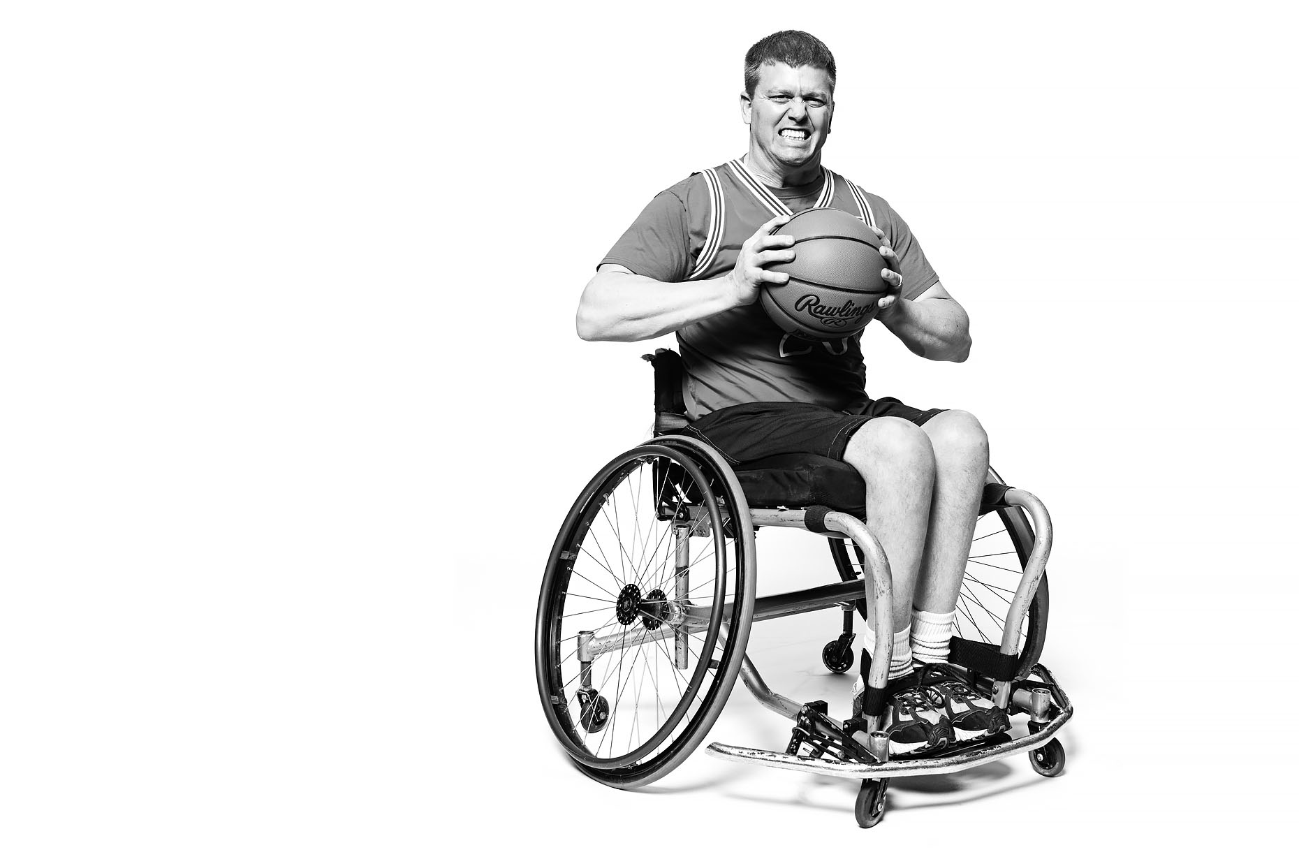 Wheelchair basketball player in Kansas City, MO.