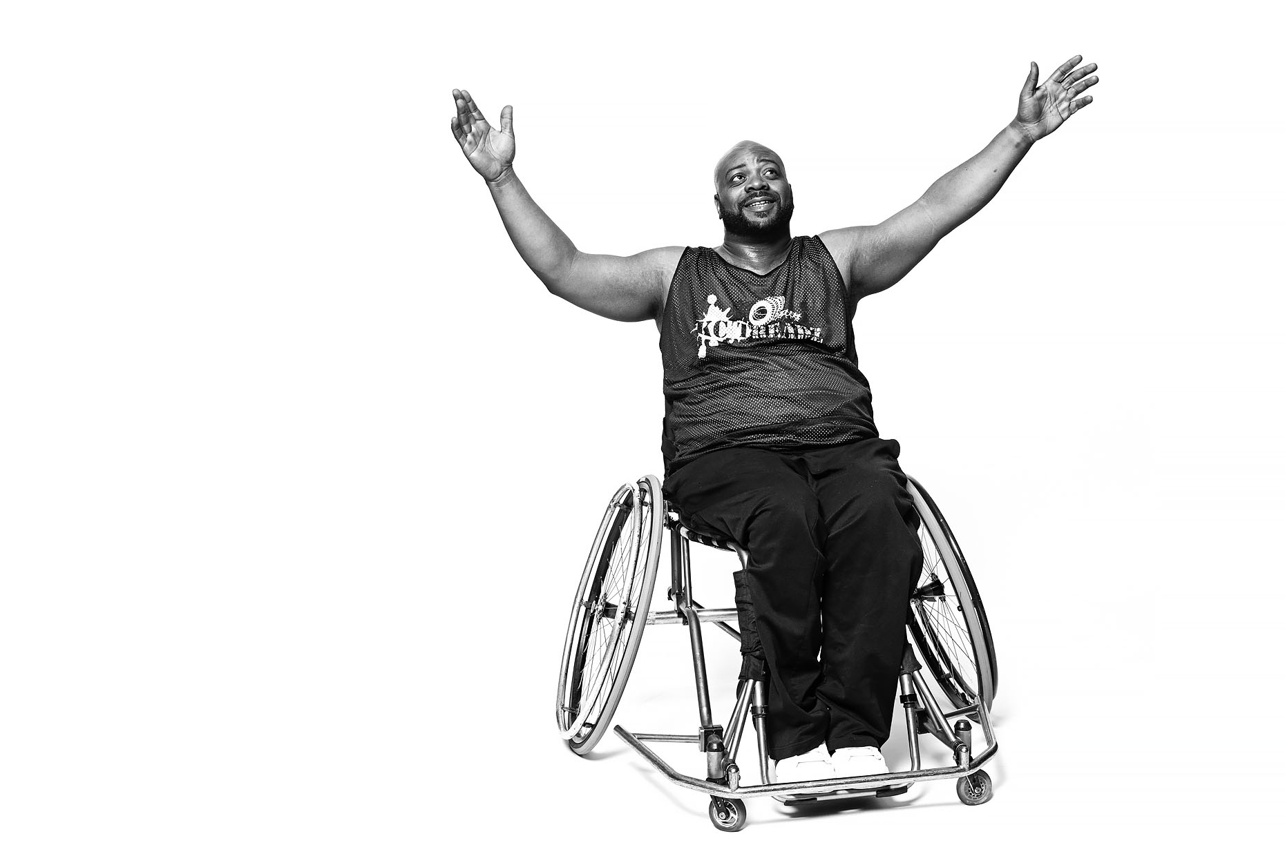 Wheelchair basketball player Michael Minor in Kansas City, MO